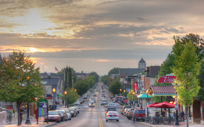 View of Kirkwood Avenue in Bloomington Indiana